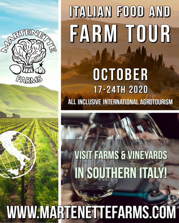 Fattoria al Tavalo Italian Farm Tour Oct 17-24th (Deposit and Registration fee)