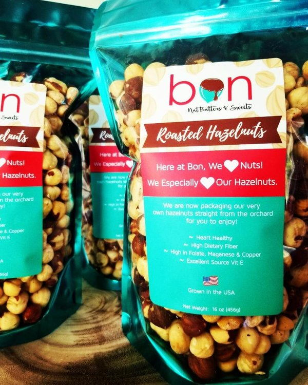 Roasted Hazelnuts from Bon Nut Butters